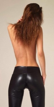 Tight leather ass!